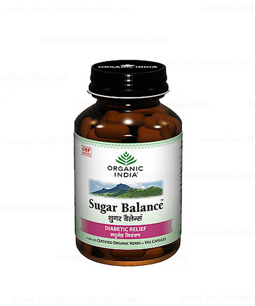 buy Organic India Sugar Balance 60 Capsules in Delhi,India