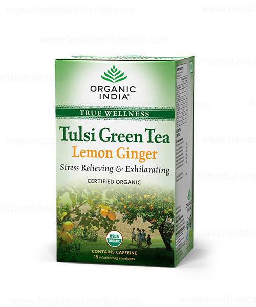 buy Organic india Tulsi Green Tea Lemon Ginger in Delhi,India