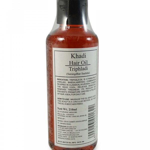 buy Khadi Triphladi Hair Oil 210ml in Delhi,India