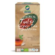 buy Organic Wellness Tulsi & Saffron Green Tea Bags in Delhi,India