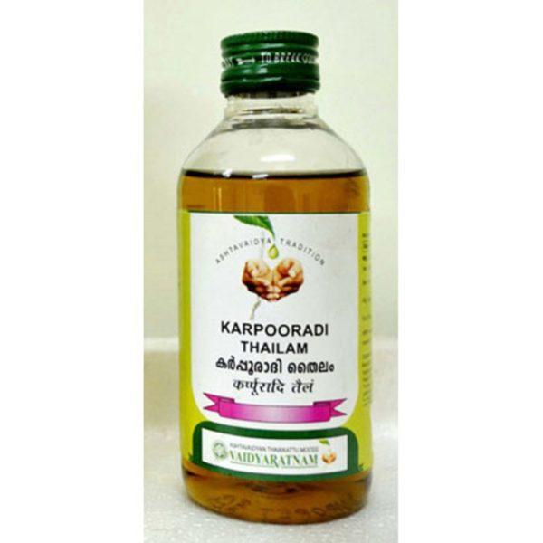 buy Vaidyaratnam Karpooradi/Karpoora Thailam in Delhi,India
