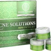 buy Khadi Natural Anti-Acne Solutions Mini Facial Kit (With Tea Tree & Basil) in Delhi,India