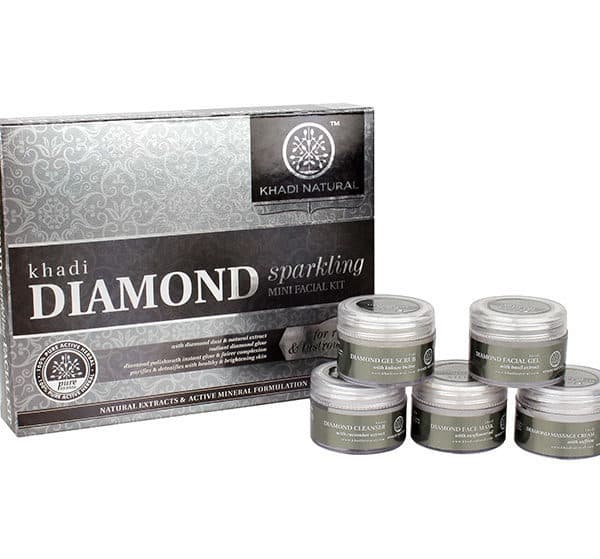 buy Khadi Natural Diamond Sparkling Mini Facial Kit in Delhi,India