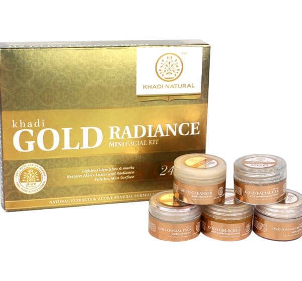 buy Khadi Gold Radiance Mini Facial Kit in Delhi,India