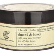 buy Khadi Natural Almond & Honey Herbal Exfoliating Facial Scrub in Delhi,India