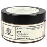 buy Khadi Natural Herbal Facial Gold Massage Cream in Delhi,India