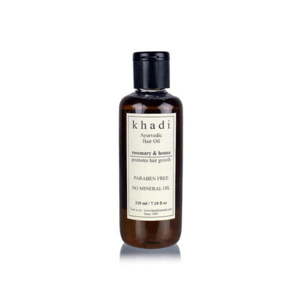 buy Khadi Natural Rosemary & Henna Promotes Growth Hair Oil 210ml in Delhi,India