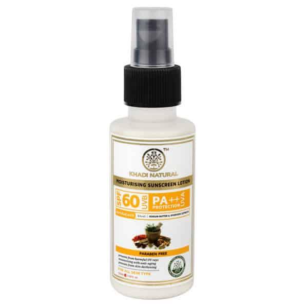 buy Khadi Natural SPF 60 UVB PA++ Sunscreen Moisturising Lotion in Delhi,India